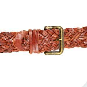Vintage Omega woven brown Turkish leather belt 36